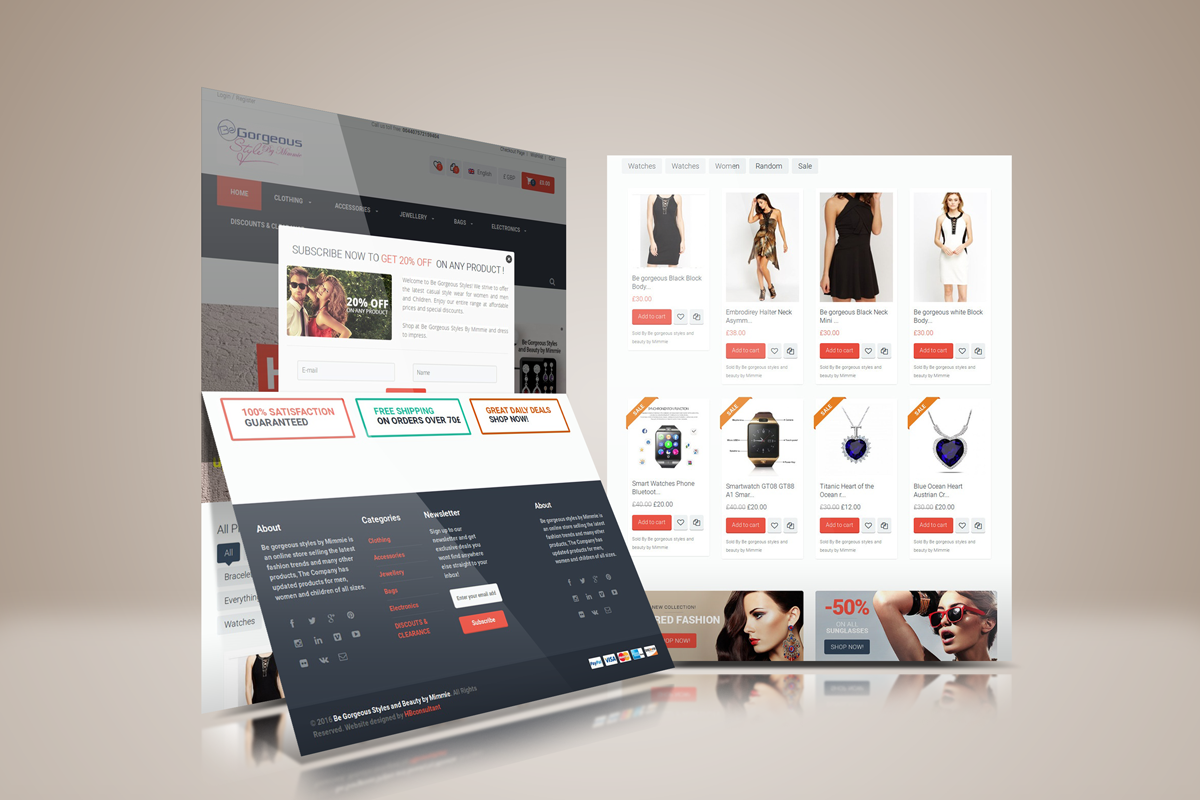 Be gorgeous styles and beauty Website Ecommerce