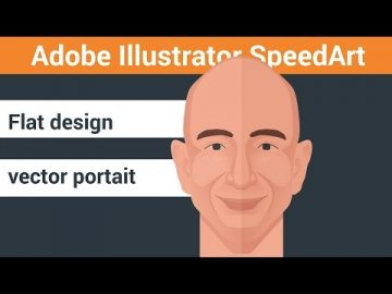 Flat design portrait Adobe illustrator speed art. Drawing flat portrait