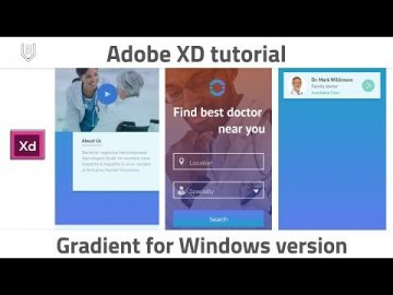 How to add gradient in Windows version of Adobe XD